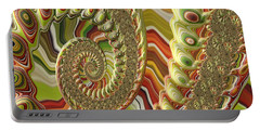 Portable Battery Charger featuring the photograph Spiral Fractal by Bonnie Bruno