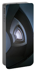 Spiral Modern Staircase In Blue Tones Portable Battery Charger