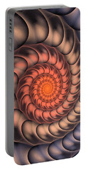 Portable Battery Charger featuring the digital art Spiral Shell by Anastasiya Malakhova