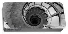 Portable Battery Charger featuring the photograph Spiral Staircase At The Arc by Donna Corless