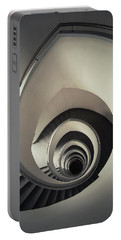 Spiral Staircase In Beige Tones Portable Battery Charger by Jaroslaw Blaminsky