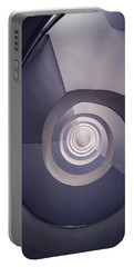 Spiral Staircase In Plum Tones Portable Battery Charger by Jaroslaw Blaminsky