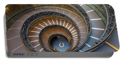 Spiral Staircase In St. Peter's Basilica Portable Battery Charger