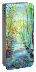 Portable Battery Charger featuring the painting Spirale - Spiral by Koro Arandia