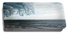 Spiraling Storm Clouds Over Daytona Beach, Florida Portable Battery Charger