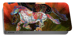 Spirit Horse II Leopard Gypsy Vanner Portable Battery Charger
