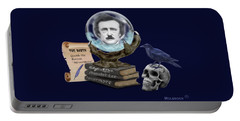 Spirit Of Edgar A. Poe Portable Battery Charger by Glenn Holbrook