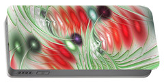 Portable Battery Charger featuring the digital art Spirit Of Spring by Anastasiya Malakhova