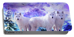 Spirit Of The Arctic Wolf Portable Battery Charger