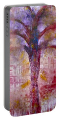 Portable Battery Charger featuring the painting Spirit Tree by Claire Bull