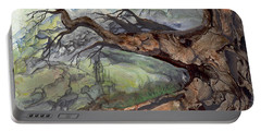 Portable Battery Charger featuring the painting Spirit Tree by Sherry Shipley