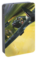 Spitfire And Doodle Bug Portable Battery Charger by Wilf Hardy
