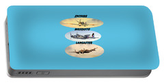 Spitfire Mosquito Lancaster Aircraft With Name Banners Portable Battery Charger by Bill Holkham
