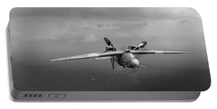 Portable Battery Charger featuring the photograph Spitfire Pr Xix Ps915 Inverted by Gary Eason