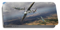 Portable Battery Charger featuring the photograph Spitfire Tr 9 Fighter Affiliation by Gary Eason