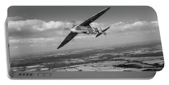 Portable Battery Charger featuring the photograph Spitfire Tr 9 On A Roll Bw Version by Gary Eason