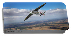 Portable Battery Charger featuring the photograph Spitfire Tr 9 On A Roll by Gary Eason