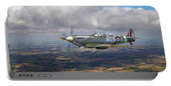 Portable Battery Charger featuring the photograph Spitfire Tr 9 Sm520 by Gary Eason