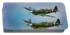 Portable Battery Charger featuring the photograph Spitfires Rule The Skies by Chris Lord