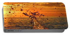 Portable Battery Charger featuring the photograph Splash by Linda Hollis