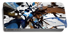 Portable Battery Charger featuring the digital art Splatter Gig by Margie Chapman