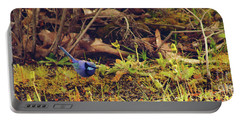 Splendid Fairy Wren Portable Battery Charger by Cassandra Buckley