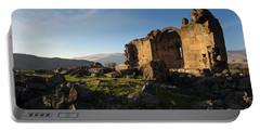 Splendid Ruins Of St. Grigor Church In Karashamb, Armenia Portable Battery Charger