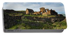 Splendid Ruins Of St. Sargis Monastery In Ushi, Armenia Portable Battery Charger