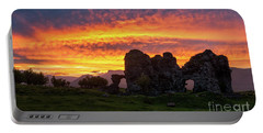 Splendid Ruins Of Tormak Church During Gorgeous Sunset, Armenia Portable Battery Charger