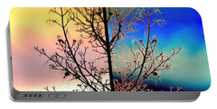 Portable Battery Charger featuring the digital art Splendid Spring Fusion by Will Borden