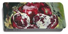 Split Pomegranate Portable Battery Charger