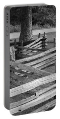 Split Rail Fence Portable Battery Charger by Eric Liller