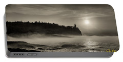 Split Rock Lighthouse Emerging Fog Portable Battery Charger