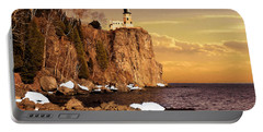 Portable Battery Charger featuring the photograph Split Rock Lighthouse by Susan Rissi Tregoning