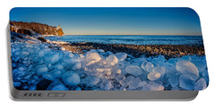 Split Rock Lighthouse With Ice Balls Portable Battery Charger