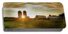 Split Silo Sunset Portable Battery Charger by Benanne Stiens