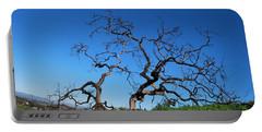 Split Single Tree On Hillside Portable Battery Charger