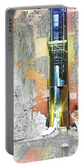 Portable Battery Charger featuring the mixed media Split by Tony Rubino