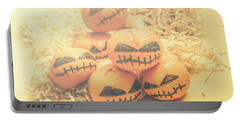 Spooky Halloween Oranges Portable Battery Charger