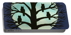 Spooky Owl Tree Portable Battery Charger