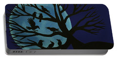 Spooky Raven Tree Portable Battery Charger