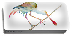 Spoonbill  Portable Battery Charger by Amy Kirkpatrick