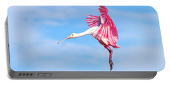 Spoonbill Ballet Portable Battery Charger by Mark Andrew Thomas