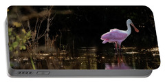 Spoonbill Fishing For Supper Portable Battery Charger