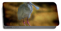 Portable Battery Charger featuring the photograph Spoonbill by Lewis Mann