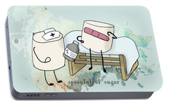 Portable Battery Charger featuring the digital art Spoonful Of Sugar Words Illustrated  by Heather Applegate