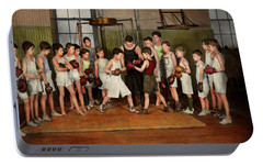 Portable Battery Charger featuring the photograph Sport - Boxing - Fists Of Fury 1924 by Mike Savad