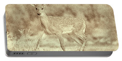 Spotted Fawn Portable Battery Charger by Jim Lepard