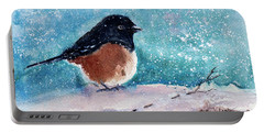 Spotted Towhee - All Puffed Up Portable Battery Charger