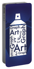 Portable Battery Charger featuring the photograph Spray Art Can by Sheila Mcdonald